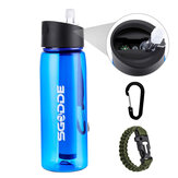 SGODDE 22,2 OZ Sportwasserflasche BPA-frei mit Filter Outdoor Portable Travel