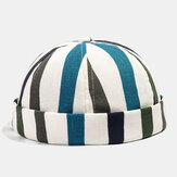 Collrown Stripe Beret Street Trends Melon Cap Vintage Innocent Metal Standard Sailor Brimless Hats
