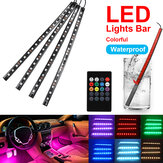 18 LED Colorful Auto-interieur Vloer RGB Strip Lichtbalk Neonlamp Afstandsbediening