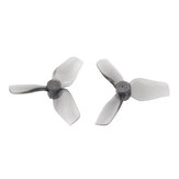 2 Pasang HQProp 31mm 31MMX3 3-blade Propeller Poly Carbonate 1mm Shaft untuk Whoop FPV Racing Drone