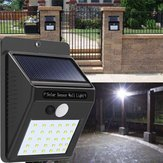 2pcs Solar Power 30 LED PIR Motion Sensor Wall Light Waterproof Outdoor Path Yard Garden Security Lamp