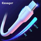 Essager USB Type C Veri Kablosu USB C Veri Tel Kablosu Hızlı Şarj Huawei P30 P40 Mate 40 Pro OnePlus 8Pro 8T