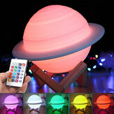 3D LED USB Saturn Star Light Sleep Romantic Starry Night Sky Desk Lamp Remote Control