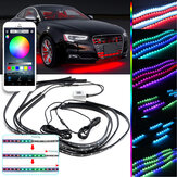 DC12V RGBW Flow LED Under Car Tube Strip Light APP Wireless Control Waterproof Underglow Body Lamp Kit Christmas Decorations Clearance Christmas Lights
