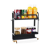 Kitchen Rack Magnetic Refrigerator Storage Holder Food Organizer Holder Shelf