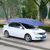 Portable Semi-automatic Car Umbrella Tent Waterproof Anti UV 400x210cm