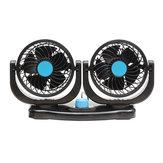 Caricatore portatile del veicolo del ventilatore dell'automobile del doppio capo 12V Ventilatore di raffreddamento dell'automobile girevole a 360 gradi