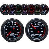 Racing Авто Turbo / Boost / EGT Exhaust / Temp / Масло Манометр 7 цветов