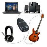 Gitara do interfejsu USB Link przewód audio 6,5 mm męski adapter słuchawek stereo