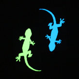 Miico Creative 2 Color Animals Lizards Luminous PVC Removable Home Room Decorative Door Switch Decor Sticker