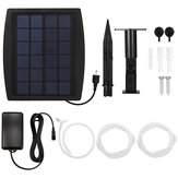 2.5W Aquarium Air Pump Solar Power Oxygenator Fish Tank Pond Oxygen Aerator