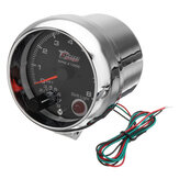 3.75 Inch 12V RPMx1000 Tacho Tachometer with Shift Light RPM Rev Gauge Meter