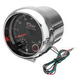 Tachymètre tachymétrique de 3,75 pouces 12V RPMx1000 avec indicateur de vitesse RPM Light Shift Rev Gauge
