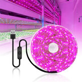 0.5 / 1/2/3/4 / 5M USB LED Grow Strip Licht Waterdicht 2835SMD Hydrocultuur Volledige spectrum Indoor Plant Bloem Lamp