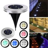 Solar Powered Stainless 5 LED Ground Buried Light Waterproof for Outdoor Garden Path Decor