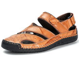 Men Genuine Leather Breathable Sandals