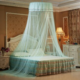 Solid Mosquito Net Bed Queen Size Home Dome Foldable Bed Canopy Elegant Princess