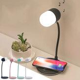 Bluetooth-Lautsprecher Wireless Charger Tischlampe Universal-Schnellladung Einstellbare Helligkeit LED Tragbare Schreibtischlampe Wireless-Ladegerät