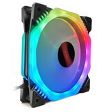C47346 RGB PC Cooling Fan 1400 RPM 4.2W RGB Symphony cooling fan With the Remote Control