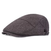 Mens Womens Casual Winter Warm Thicken Verstelbare Baret Hat Outdoor Plain Newsboy Caps