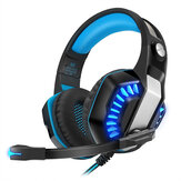KOTION EACH G200 Gaming Headset 50mm Driver Stereo Sound Line Control Noise Reduction Microphone Adjustable Head Beam for PS3/4 Xbox PC
