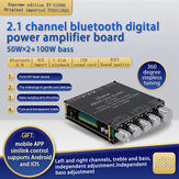 XY-S100H TPA3116D2 50Wx2+100W 2.1 Channel bluetooth Audio Power Amplifier Module High and Low Bass Subwoofer