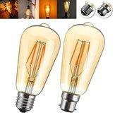 E27 / B22 4W ST58 LED COB incandescenza Edison della lampadina per la casa decorazione dell'hotel