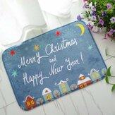 40x60 सेमी क्रिसमस फलालैन मखमली मेमोरी फोम रग अवशोषक बाथरूम चटाई गैर पर्ची नरम मंजिल कालीन