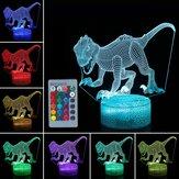 3D Dinossauro Night Light Toque Remmote Controle Home Decor Lamp Mesa Mesa Presente