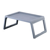 Portable Pliable En Plastique Ordinateur Portable Bureau Stand Lapdesk Ordinateur Portable Multifonctionnel Lit Canapé Petit Déjeuner Plateau Table Bureau Servant Table