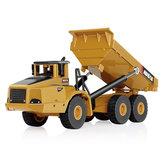 HUINA 7713-1 1/50スケールアロイ油圧ダンプトラックダイキャストモデルエンジニアリング掘削玩具
