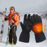 Touchscreen unisex Batteria Riscaldato Antivento Caldo Riscaldamento a dita intere Guanti