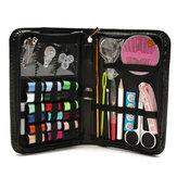 Conjunto enhebrador de hilo de aguja cinta de medida de almacenamiento de tijera kit de costura multifuncional