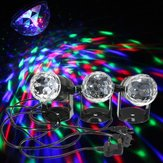 Mini 3W RGB Sound Activated Stage Light Rotating Projector for Xmas Wedding Party