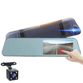 1080P HD 5.18Inch Touch Screen Dash Cam Car DVR Camera Recorder with Rearview Mirror