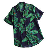 Mens Summer Vacation Beach Floral bedruckte Hawaiihemden