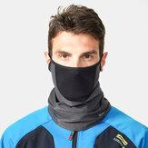 Herren Fleece warm halten Reiten Outdoor Atmungsaktiv Austauschbare Filterhals Gesichtsschutzmaske