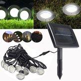 8 in 1 Solar Power LED Waterdichte Underground Light Outdoor Garden Pad Lamp