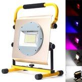 100W Taşınabilir Şarj Edilebilir 100 LED RGB RGB Projektör Işık Aydınlatması Kampçılık Lamba