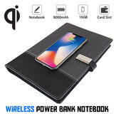Bakeey 8000mAh Meeting Notebook Power Bank With U Disk Micro USB Type-C Lightning Quick Charging For iPhone XS 11Pro Huawei P30 P40 Pro Xiaomi MI10 Redmi Note 9S