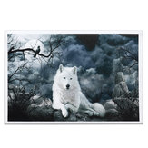 Weiße Wolf Stein Leinwand Wandmalereien Frameless Pictures Art Home Decor