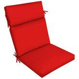 Poduszka do fotela z wysokim oparciem Jednoczęściowa poduszka Jednokolorowa wodoodporna podkładka na krzesło z filtrem przeciwsłonecznym do mebli
