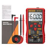 ANENG M118A Digital Mini Multimeter Tester Auto Multimeter True Rms Transistor Meter with NCV Data Hold 6000 Counts lampe de poche