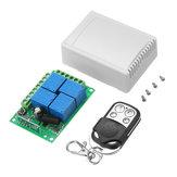 Geekcreit®DC 12V 4CHチャネルワイヤレスリモートコントロールスイッチラーニングタイプリレー制御モジュール(ケース付き)