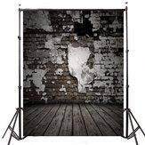 5x7FT Tema Fotografia in legno a forma di cuore Sfondo in vinile Tessuto Studio Fondale 1.5x2.1m