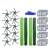 25pcs Replacements for iRobot Roomba S9 S9+ Vacuum Cleaner Parts Accessories Main Brushes*4 Side Brushes*10 HEPA Filters*10 Cleaning Tool*1 [Non-Original]