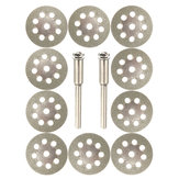 10pcs 22mm Diamond Coated Saw Blade 9 Holes Cutting Discs with 2pcs Mandrel for Dremel