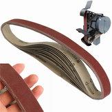 10pcs 760x25mm 400 cinturones de grano de lija abrasivos de papel de lija