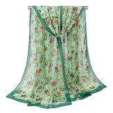 160CM Cachecóis bonitos da coruja das mulheres Chifon Outono lenços exteriores do xale