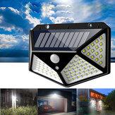 ARILUX® 100 LED Solar Powered PIR Motion Sensor Lâmpada de parede Lâmpada de jardim ao ar livre 3 modos